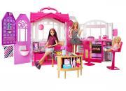 Barbie Переносной домик с куклой CFB65