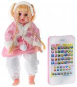 Tongde Интерактивная обучающая кукла Умняша в розовой шубке с...
