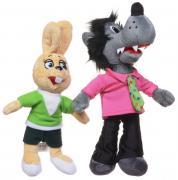 1TOY Мягкие игрушки Ну погоди Волк и Заяц 22 см