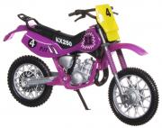 Dickie Toys Кроссовый мотоцикл № 4 цвет фиолетовый
