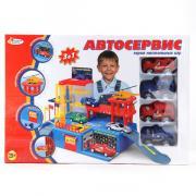 """Игровой набор """"Автосервис"""" с 4-мя машинками, 154430"""