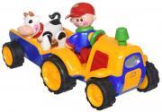 Tolo Развивающая игрушка Трактор с прицепом