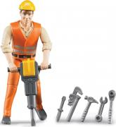 Bruder Фигурка строителя с аксессуарами