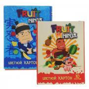 """Набор цветного картона """"Action!: Fruit Ninja"""", 20 цв, формат A4..."""