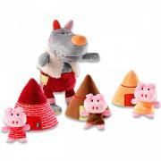 Lilliputiens Пальчиковые игрушки: Волк и три поросенка
