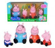 Набор игрушек Peppa pig Свинка Пеппа, семья, резиновые фигурки