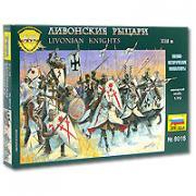 Ливонские рыцари XIII века. Набор миниатюр