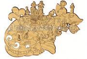 Деревянная игрушка Woody Набор Чудо-юдо Рыба-кит