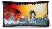 "Подушка ""Битва драконов"", 43*25 см"