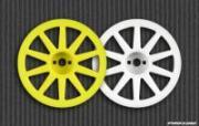 Диски колесные Wabash 1/18T & Mini-T / белые (2шт) - PL2688-04
