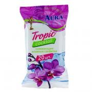 "Салфетки освежающие ""AURA"" Tropic cocktail 20шт"