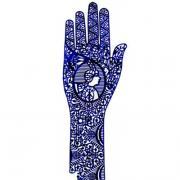 Трафарет для мехенди рука pranastudio