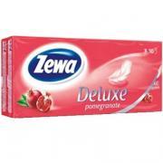 Носовые платочки «Zewa Deluxe» гранат (10х10шт)