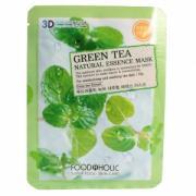 FoodaHolic Тканевая 3D маска с натуральным экстрактом зелёного чая...