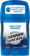 "Mennen Speed Stick Дезодорант-стик ""Neutro Power"", мужской, 50 г"