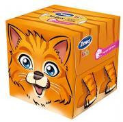 """Zewa Бумажные платочки в коробке """"Kids. Тигренок"""", детские, 60 шт"""