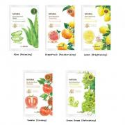 Маска The Saem Natural Skin Fit Mask Sheet (Green Grape)