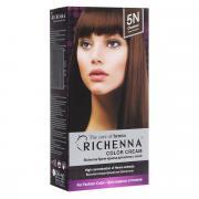 Richenna Крем-краска для волос, с хной, оттенок 5N, Каштановый