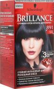 """Стойкая крем-краска """"Brillance"""" 891. Иссиня-черный"""