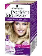 Краска для волос Schwarzkopf Perfect Mousse Тон 910 Пепельный блонд