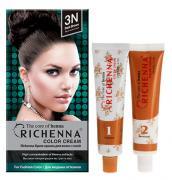 Richenna Крем-краска для волос, с хной, оттенок 3N Темно-коричневый