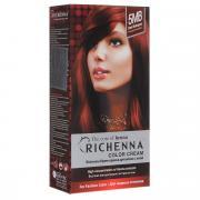 Richenna Крем-краска для волос, с хной, оттенок 5MB Темно-красное...