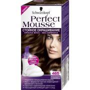 Краска для волос Schwarzkopf Perfect Mousse, №465, шоколадный каштан