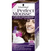 Краска для волос Schwarzkopf Perfect Mousse, № 668,лесной орех