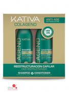 Шампунь и кондиционер для всех типов волос, 2x100 мл Kativa