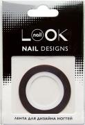 nailLOOK Лента для дизайна ногтей Stripping tape, цвет: красный...