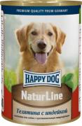 Happy Dog консервы для собак с телятиной и индейкой 400г