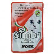 """Консервы Monge """"Simba"""" для взрослых кошек, с мясом и горохом, 100 г"""