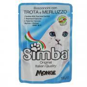 """Консервы Monge """"Simba"""" для взрослых кошек, с форелью и треской, 100 г"""