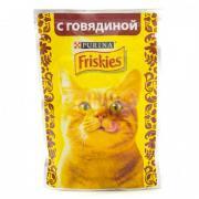 Паучи Friskies для кошек кусочки в подливе Говядина 85г (упак. 24 шт)...
