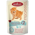 Паучи Berkley Fricasse Kitten Menu Turkey&Chicken Fillet&Herbs in...