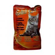 Edel Cat консервы для кошек с гусем и печенью 100 г (20 штук)