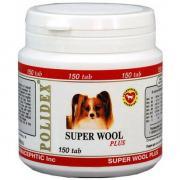 Витамины Polidex Super Wool plus Улучшает состояние шерсти и кожи 150...