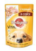 """Консервы """"Pedigree"""" для взрослых собак всех пород, с курицей в соусе,..."""