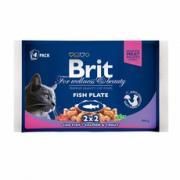 Brit (Брит) Брит премиум Набор паучей для кошек Fish Plate Рыбная...