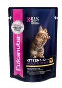 """Корм консервированный для котят Eukanuba """"EUK Cat. Паучи"""", с курицей,..."""