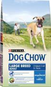 """Корм сухой """"Dog Chow"""" для взрослых собак крупных пород, с индейкой,..."""