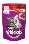 """Консервы для кошек от 1 года """"Whiskas"""", рагу с говядиной и ягненком,..."""