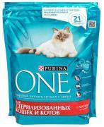 Сухой корм Purina One для стерилизованных кошек и кастрированных котов...