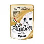 Влажный корм для кошек SIMBA CAT POUCH курица и печень - 100 грамм