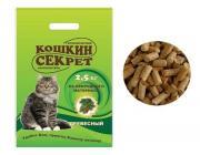 """Наполнитель для кошачьих туалетов """"Кошкин секрет"""", древесный, 2,5 кг"""