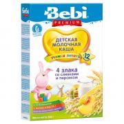 Каша Bebi (Беби) Premium 4 злака сливки персик с 12 мес 200 г