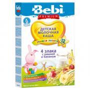 Каша Bebi (Беби) Premium 4 злака вишня банан с 12 мес 200 г