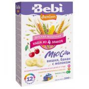 Каша Bebi (Беби) Junior мюсли вишня с бананом и молоком с 12 мес, 200...
