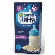 Каша ФрутоНяня молочно-рисовая с 6 мес, 200 г