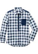 bonprix Клетчатая рубашка Regular Fit с длинным рукавом (белый) - John...
